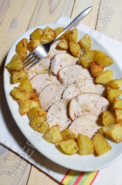hiperica di lady boheme blog di cucina, ricette gustose, facili e veloci. Arrosto di tacchino al forno con patate