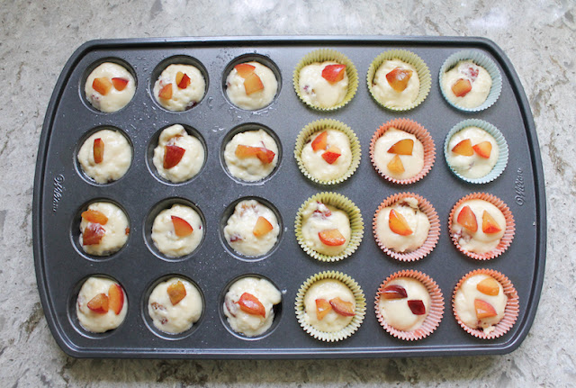 Food Lust People Love: These Verry Cherry Plum Mini Muffins are made with hybrid fruit, part cherry-part plum and they are a delicious mixture of both! If you don't have cherry plums, by all means, substitute another soft fruit.