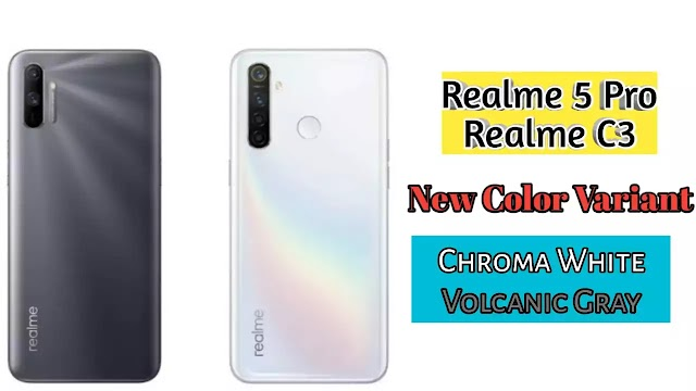 Two new color variants Realme 5 Pro and Realme C3 have been launched in India.