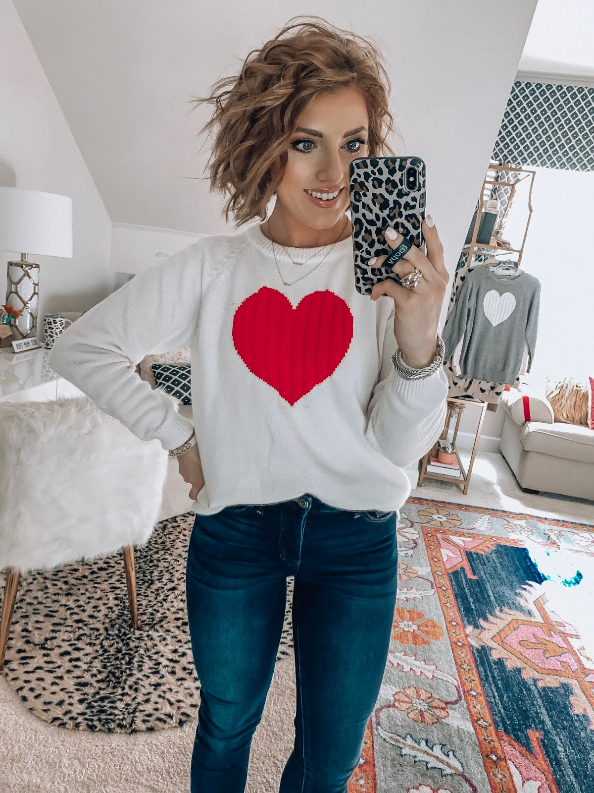 Recent Amazon Finds - Under $30 Heart Sweater for Valentine's Day - Something Delightful Blog #AmazonFashion #RecentFinds #Hearts #ValentinesDay #AffordableFashion