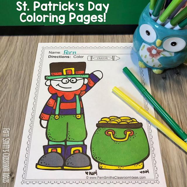 St. Patrick's Day Coloring Pages - 41 Pages of St. Patrick's Day Coloring Fun #FernSmithsClassroomIdeas