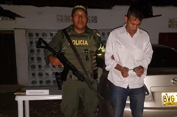 Operación ODIN en el Cesar: Dos kilos de marihuana llevaba en su carro