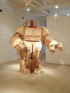 robot de madera
