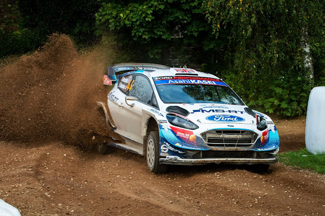 Ford Fiesta World Rally Car Drifting