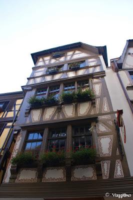 Una delle abitazioni tipiche del centro storico di Strasburgo