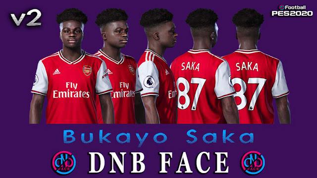 Pes 2020 Faces Bukayo Saka Kazemario Evolution