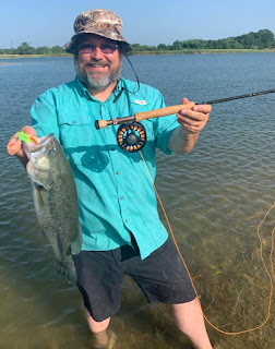 Largemouth Bass, Bass on the fly, TFFF Member Bragging Board, Texas Fly Fishing, Fly Fishing Texas