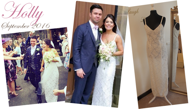 Holly in her fully beaded wedding dress from Vintage lane bridal bolton Lancashire Manchester