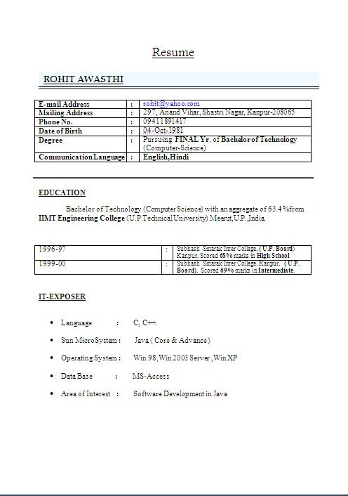 java resume sample core java developer resume template junior java developer resume template junior java developer - Core Java Resume
