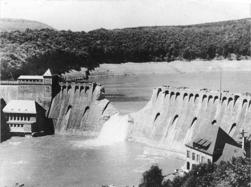 Eder Dam on the morning after the attack.