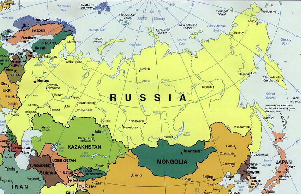 Cartina Fisica Della Russia Europea.Ripasso Facile Riassunto Sulla Russia