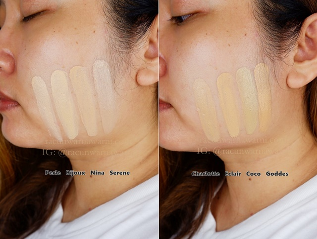 Face Swatch All Shade Somethinc Copy Paste Breathable Mesh Cushion