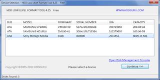 برنامج الفورمات HDD Low Level Format