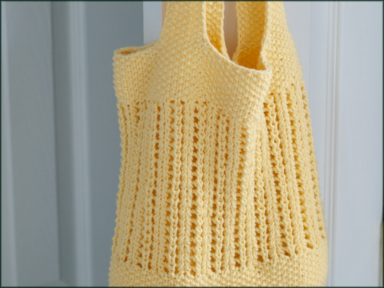 Wyndlestraw Designs: Market Bag Knit-along #7 - Handles and Finishing