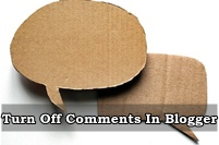 How To Turn Off Comments In Blogger Blog