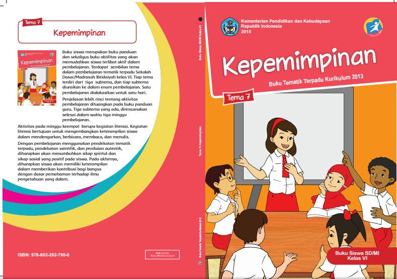 Download Buku Tematik Kurikulum 2013 SD/MI Kelas 6 Tema 7 Kepemimpinan Edisi Revisi Format PDF
