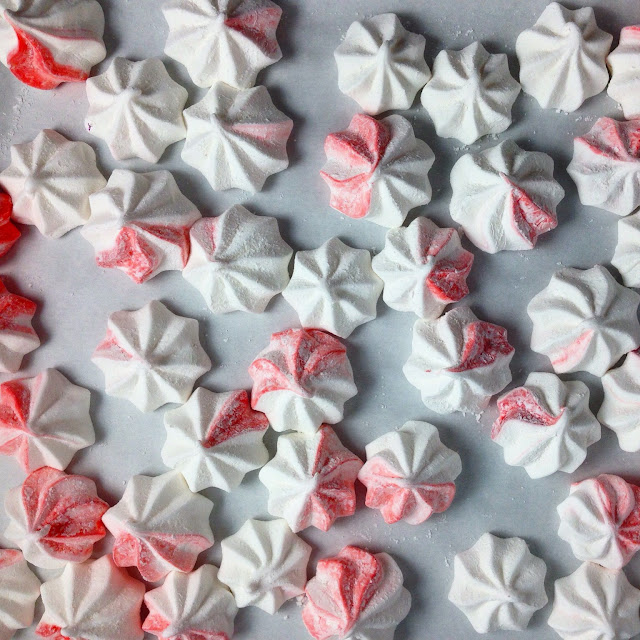 Sheet Tray of Peppermint Marshmallows