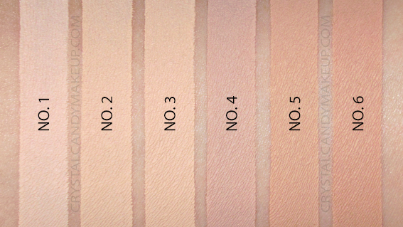 Benefit Boi-Ing Cakeless Concealer Swatches 1 2 3 4 5 6 MAC NW15 NC15 NC30 NW30 NW35