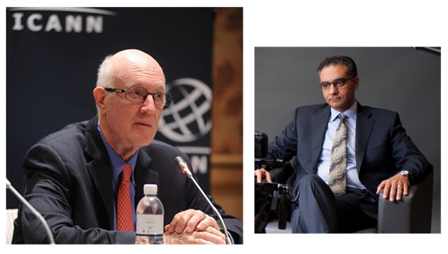 photos of ICANN Board Chairman Dr. Stephen Crocker, and Fadi Chehade, ICANN President & CEO
