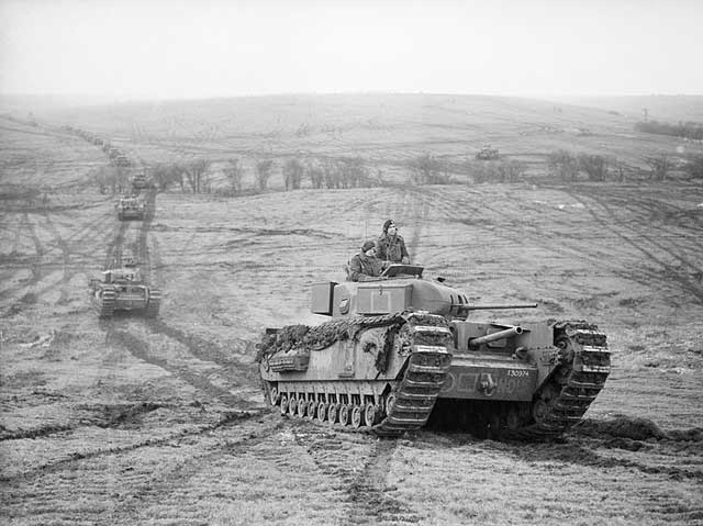 Churchill tanks on Salisbury Plain, January 1942 worldwartwo.filminspector.com