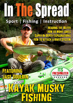 in the spread kayak musky fishing its freshwater muskie tactics