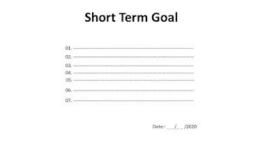 Writing Short Term Goals