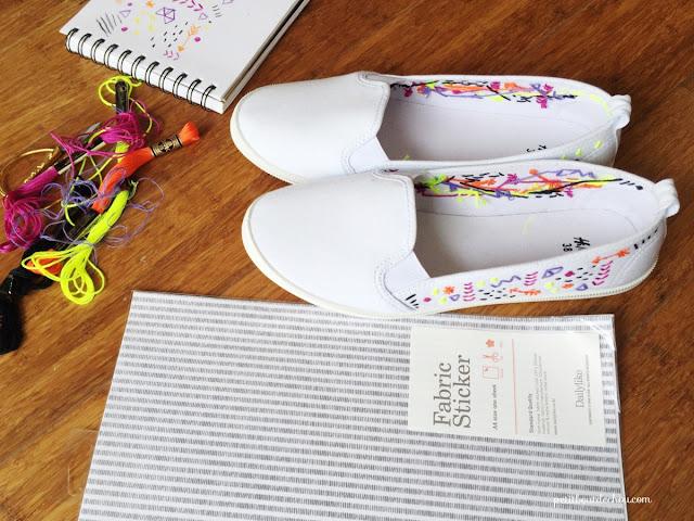 hide your thread on custom summer shoes