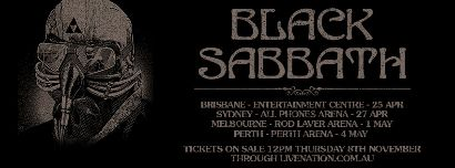 heavy rock black sabbath australian 2013 tour dates announced. Black Bedroom Furniture Sets. Home Design Ideas