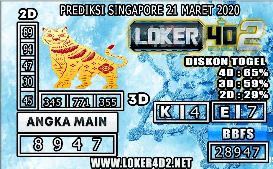 PREDIKSI TOGEL SINGAPORE LOKER 4D2 21 MARET 2020