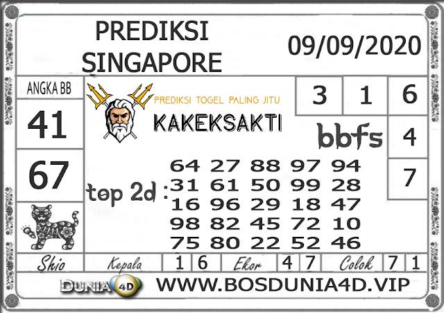 Prediksi Togel SINGAPORE DUNIA4D 09 SEPTEMBER 2020