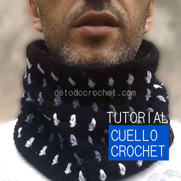 Tutorial cuello ganchillo punto bloques