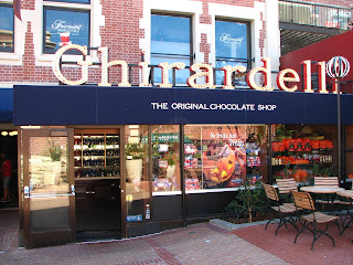 The Ghirardelli Chocolate Shop in Ghirardelli Square on San Francisco's northern waterfront