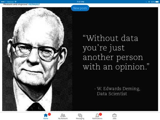 The great man of quality improvement -- W Edwards Deming (source LinkedIn post)