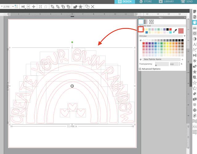 silhouette studio, silhouette studio v4, fill color tool, fill color, trace by color