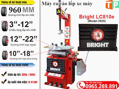 Máy tháo lốp xe máy Bright LC810e