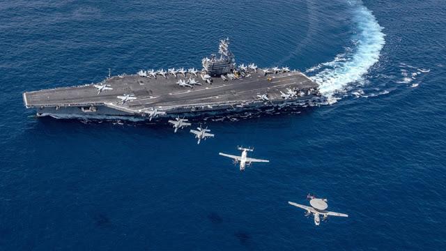 Mengejutkan, Armada Kapal Perang AS Masuk Perairan tempat Latihan Perang Angkatan Laut China