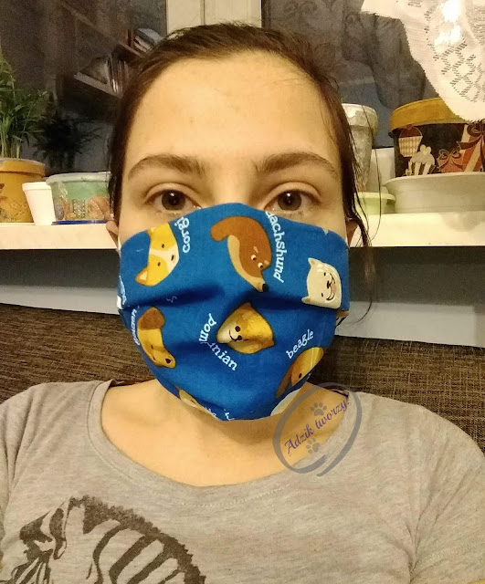 Adzik tworzy - wielorazowe maski ochronne z bawełny kolorowe