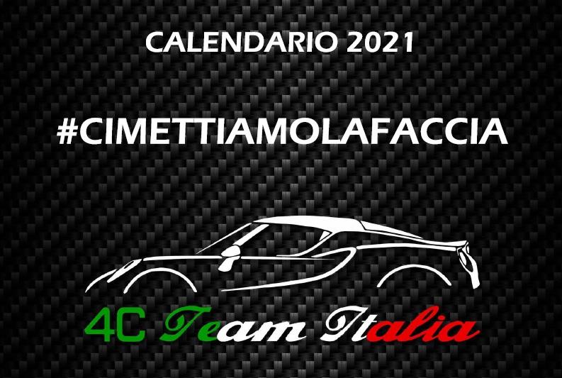 Calendario A Mano Armata 2021 STILE ALFA ROMEO: CALENDARIO 4C TEAM ITALIA 2021