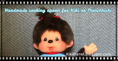 kiki monchhichi couture fait main handmade tablier sewing doll poupée