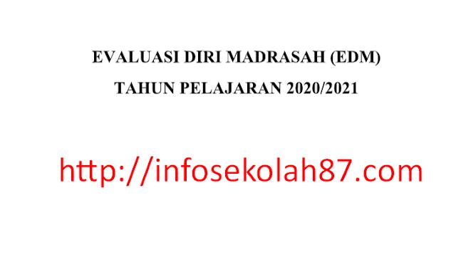 Download Evaluasi Diri Madrasah Tahun Pelajaran 2020/2021