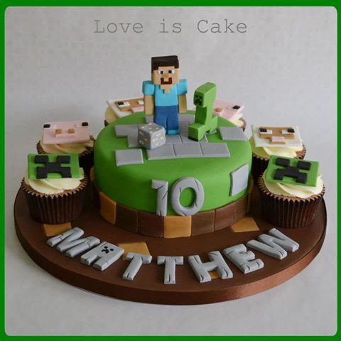 Pin Lego Minecraft Cake Youtube on Pinterest