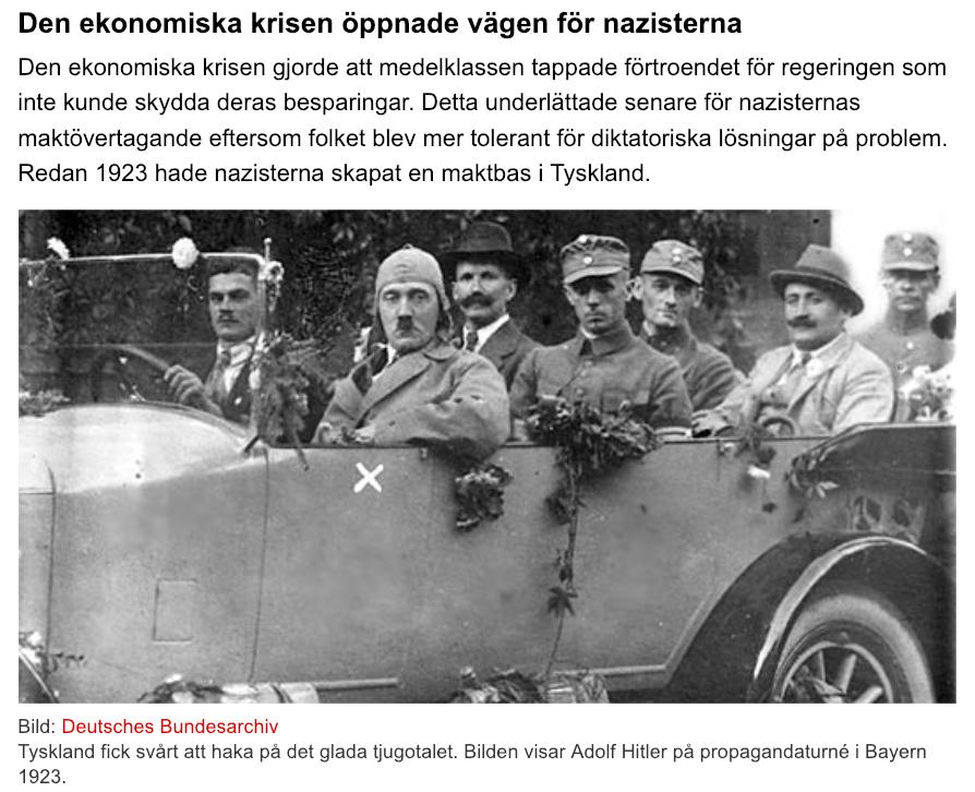 nazisternas väg till makten i tyskland