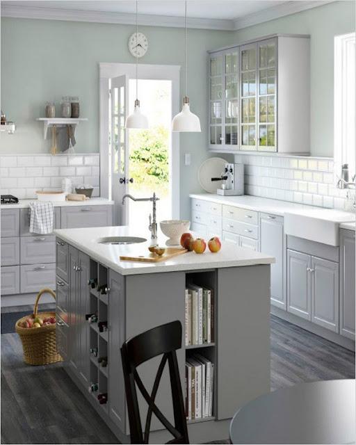 ikea kitchen island ideas grey