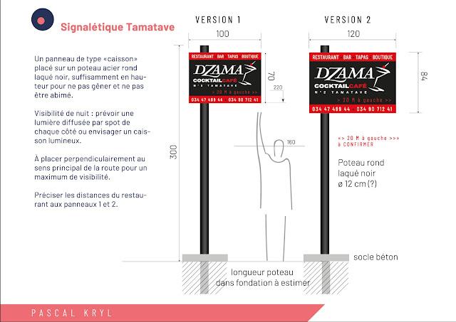 conception enseigne signalétique Tamatave