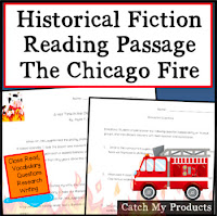 Chicago Fire historical fiction story & questions