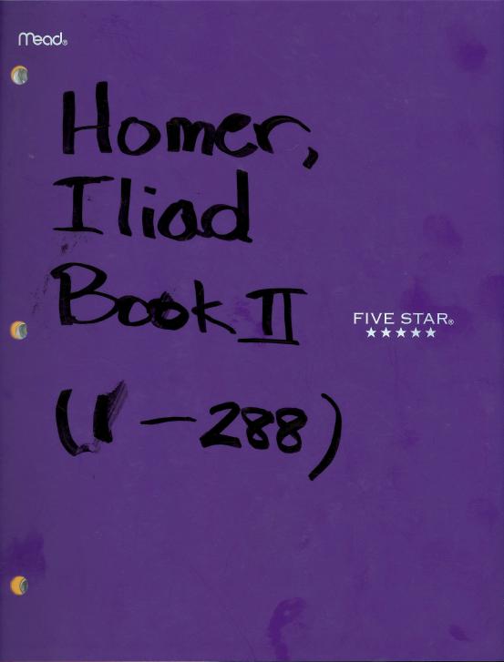 e h cbell news desk homer s iliad book ii the great