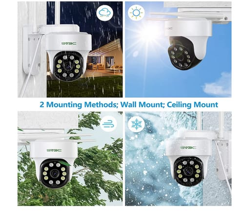 SV3C WiFi Night Vision Security Camera with Light