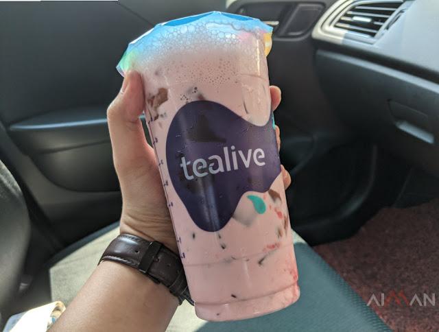 Tealive Grape Velvet Milk With Black Diamond Padu Bak Hang!