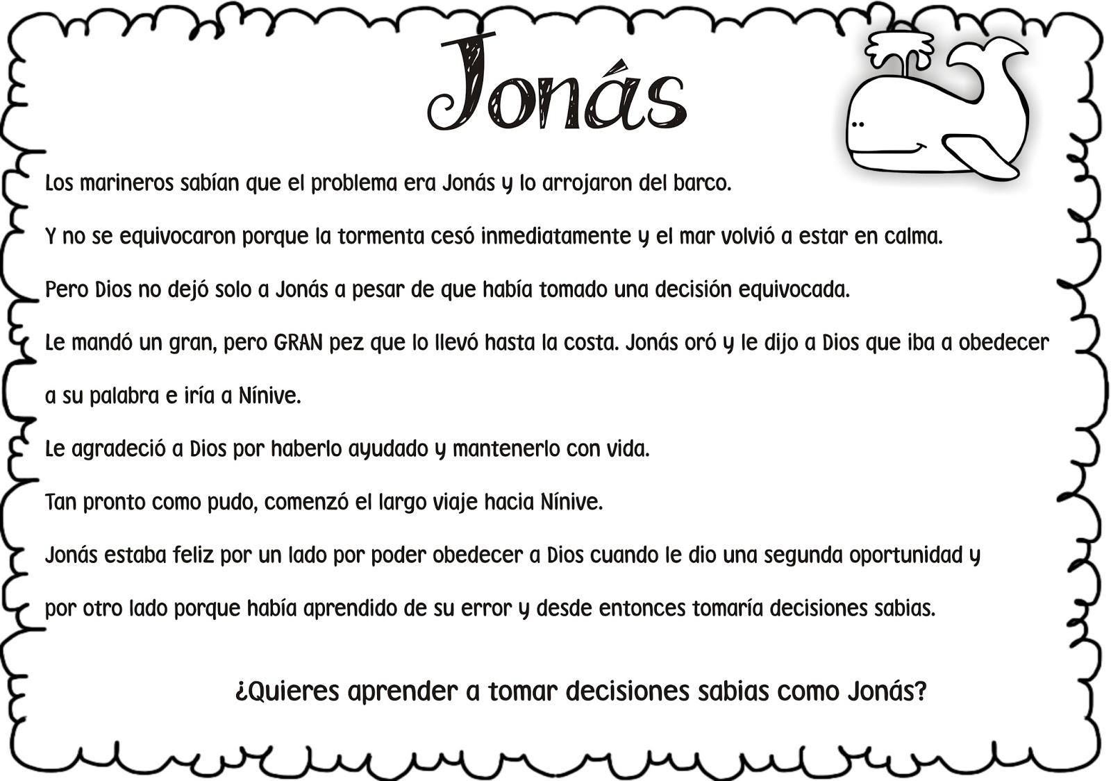 Contemporáneo Jonás Y La Ballena Para Colorear Elaboración ...