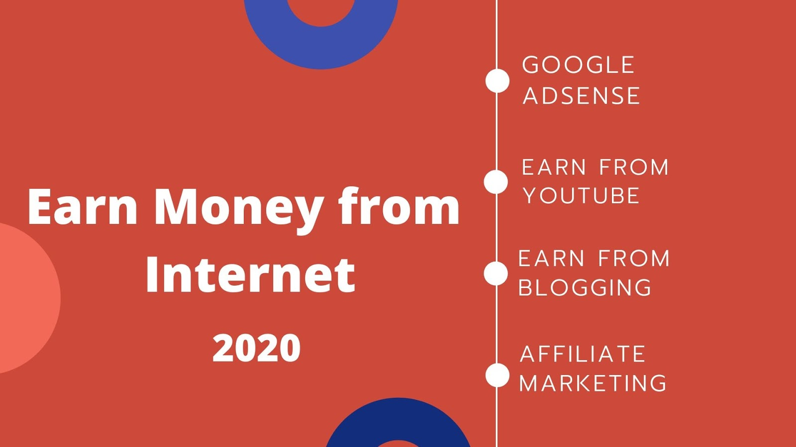 Earn Money from Internet, Google Adsense, Youtube, Blogger